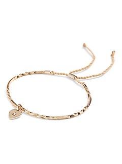Delicate Heart Slider Bracelet