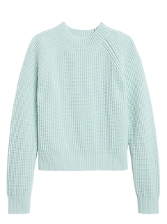 Cashmere Cropped Mock-Neck Sweater