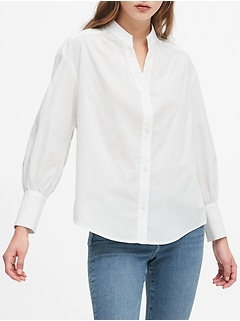 Relaxed Puff-Sleeve Shirt