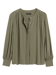 ECOVERO&#153 Balloon-Sleeve Blouse