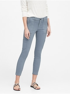 Petite Sloan Skinny-Fit Cargo Chino