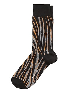 Pop Zebra Sock