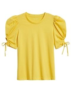Petite SUPIMA® Cotton Puff-Sleeve Top