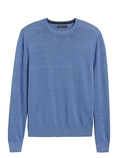 Performance Linen Crew-Neck Sweater