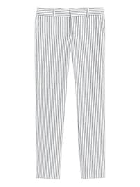 Petite Avery Straight-Fit Linen-Cotton Pant