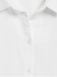 Cotton Gauze Roll-Cuff Shirt