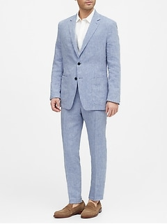 Slim Linen Suit Jacket