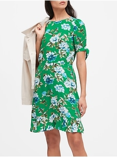 ECOVERO™ Puff-Sleeve Dress