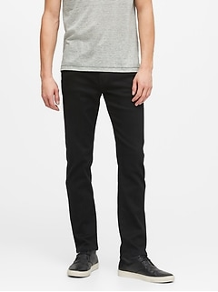 Slim LUXE Traveler Black Jean