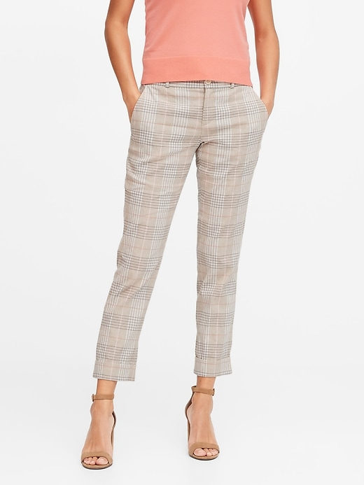 Petite Avery Straight-Fit Linen-Cotton Ankle Pant