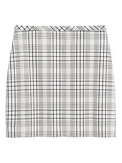 Petite Plaid Bi-Stretch Mini Skirt