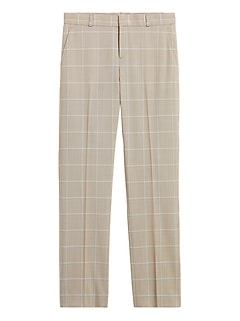 Petite Ryan Slim Straight-Fit Washable Wool-Blend Pant