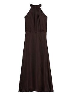 Petite Soft Satin Midi Dress