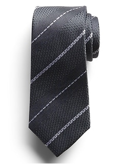 Space Out Stripes Silk Tie
