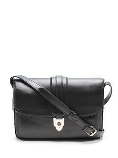 Leather East-West Shoulder Bag