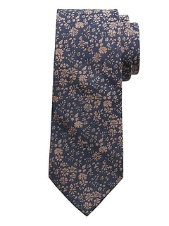 Floral Field Cotton-Silk Tie