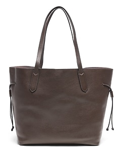 Leather Unstructured Tote