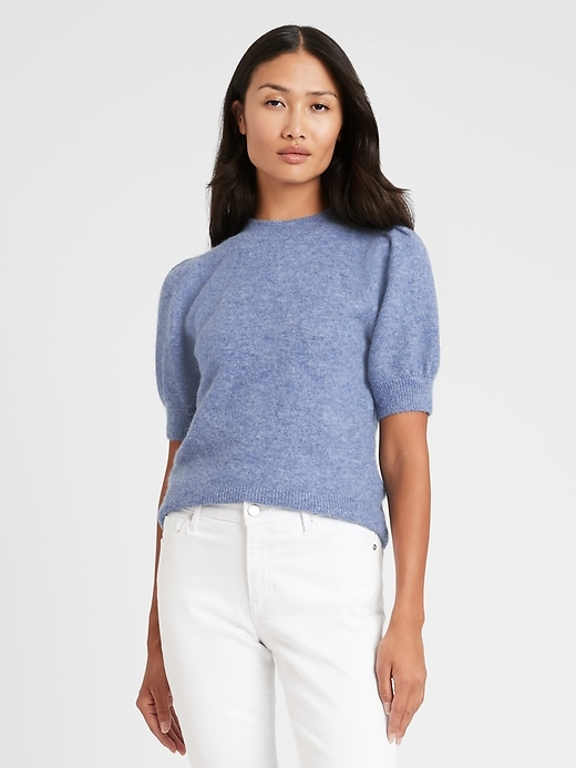 Image number 1 showing, Puff-Sleeve Sweater Top