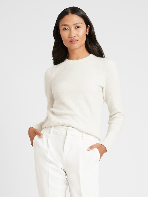 Image number 1 showing, Puff-Sleeve Sweater