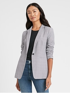 Petite Long & Lean-Fit Performance Stretch Blazer