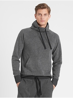 Funnel-Neck Birdseye Fleece Sweatshirt
