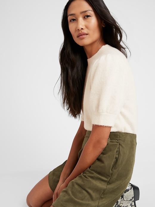 Puff-Sleeve Sweater Top
