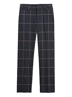 Petite High-Rise Relaxed Straight-Fit Pant