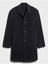 Unlined Recycled Wool-Blend Car Coat