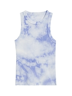 Petite Fitted Tie-Dye Ribbed Tank