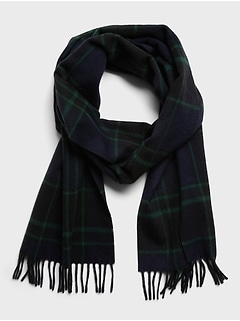 Benny Plaid Wool Scarf