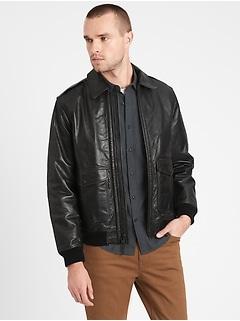 Heritage Leather Aviator Jacket