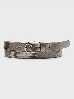 Skinny Metallic Belt