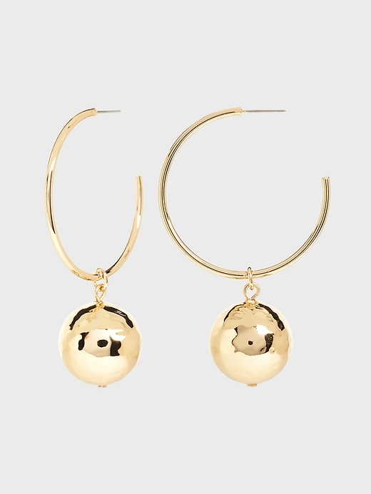 Circle Drop Hoop Earrings