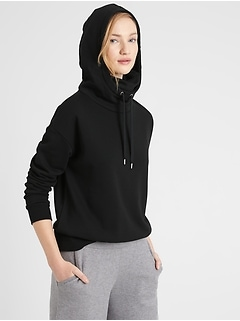 French Terry Face-Shield Hoodie