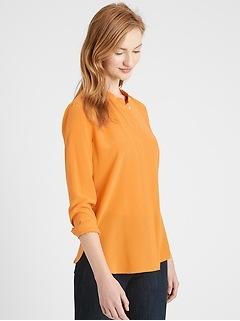 Petite Washable Silk Shirt