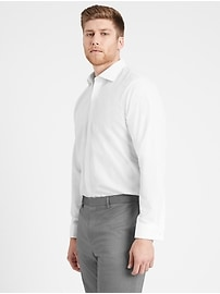 Slim-Fit Non-Iron Tuxedo Dress Shirt