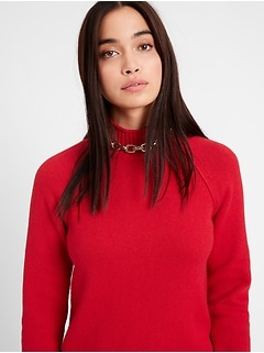 Petite Chunky Mock-Neck Sweater