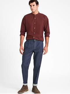 Relaxed Tapered-Fit Cropped Traveler Jean