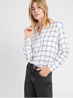 Petite Dillon Classic-Fit Flannel Shirt