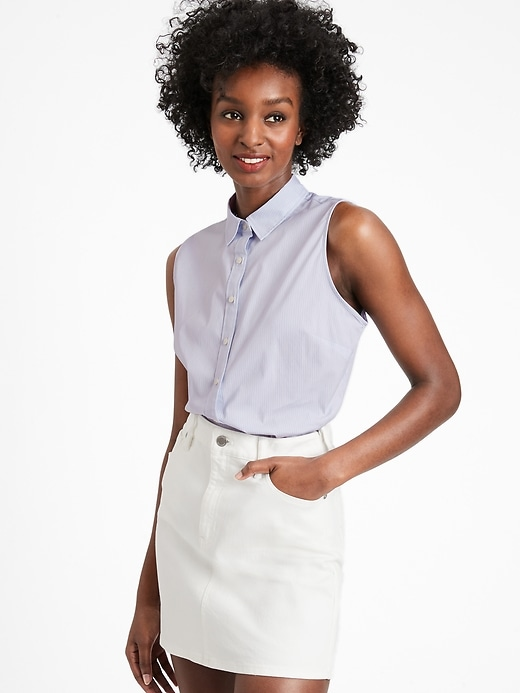 Riley Tailored-Fit Sleeveless Shirt