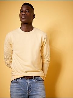 Performance Silk-Linen Crew-Neck Sweater