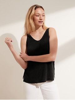 Petite Recycled Linen Sweater Tank